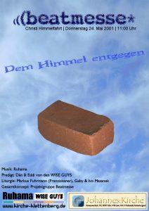 """Flyer der Beatmesse """"Dem Himmel entgegen"""""""