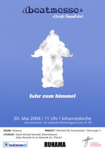 "Flyer ""Fahr zum Himmel"""