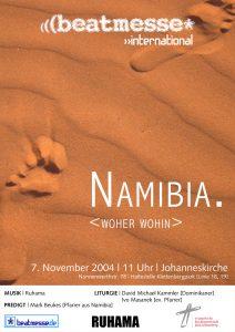 """Flyer """"Namibia. woher - wohin"""""""