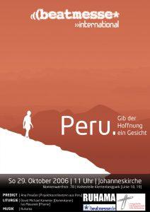 """Flyer """"Peru - Gib der Hoffnung ein Gesicht"""""""