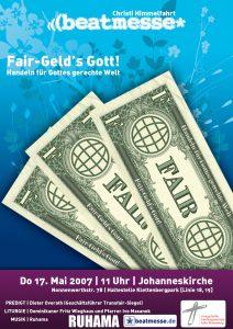 """Flyer """"Fair-Geld´s Gott! – Handeln für Gottes gerechte Welt"""""""