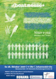 """Flyer """"Nicaragua - Reichtum der Armen"""""""