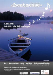 """Flyer """"Lettland: Ich hör' die Stille singen"""""""