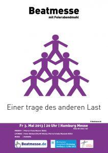 """Flyer Kirchentag """"Einer trage des anderen Last"""""""