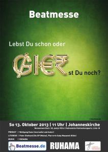 "Flyer ""Lebst Du schon oder GIERst du noch?"""