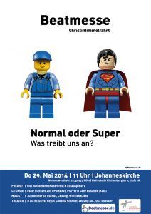"Flyer ""Normal oder Super? Was treibt uns an?"""