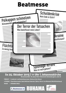 """Flyer """"Der Terror der Tatsachen"""""""