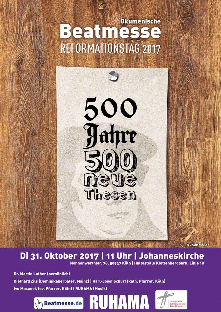 """Flyer """"500 Jahre - 500 neue Thesen"""""""